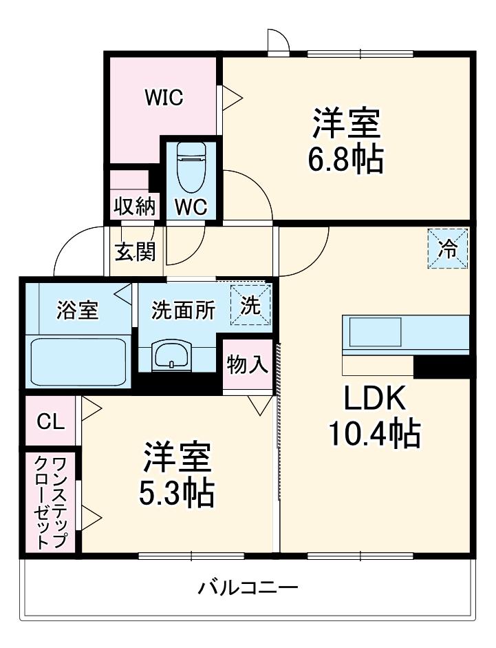 メルベーユ大倉山・302号室の間取り