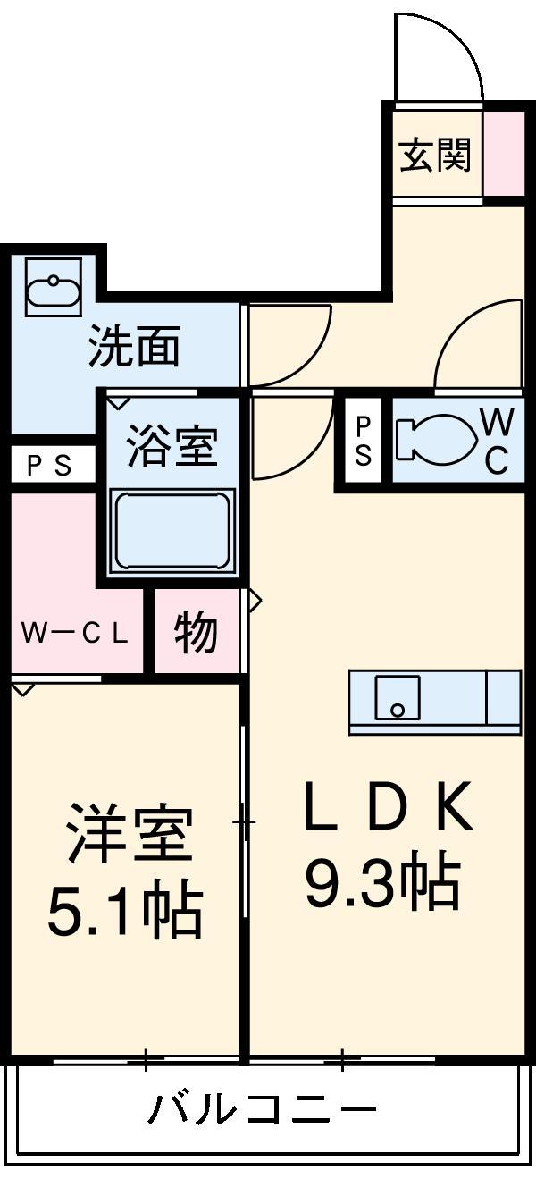 ピノグランデSekii・102号室の間取り