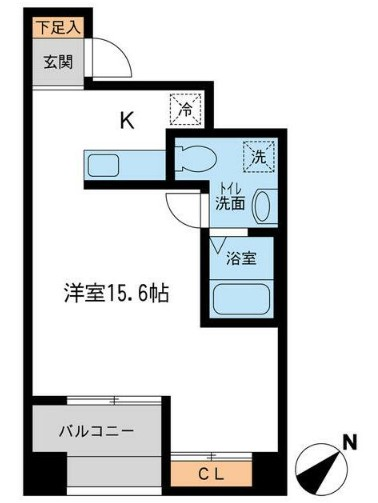 RJRプレシア新横浜・604号室の間取り