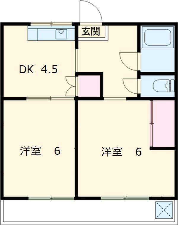 太田マンション 102号室の間取り