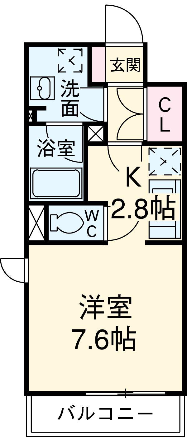 ガーデンハウス柿の木坂・502号室の間取り