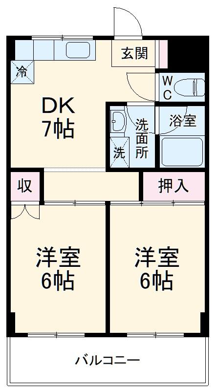アドリーム大倉山・206号室の間取り