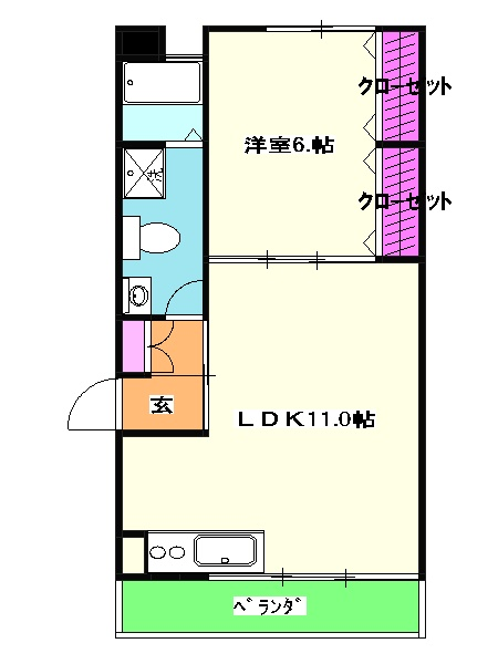CLOVER HOUSE 壱番館・204号室の間取り