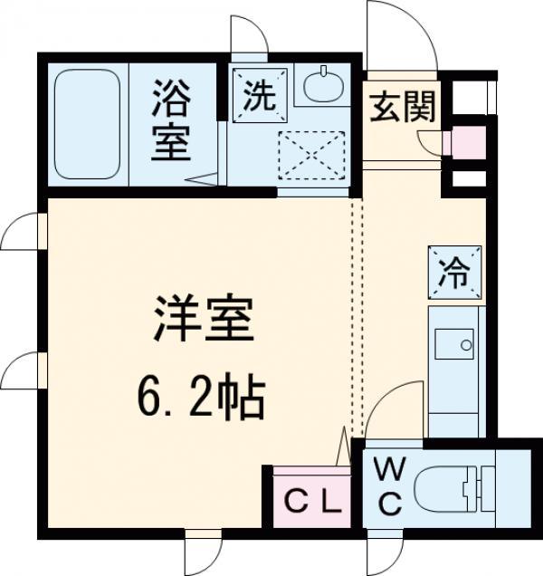 エイディハウスⅢ・101号室の間取り