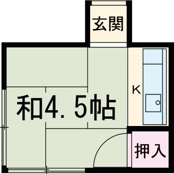 酢田荘・2号室の間取り
