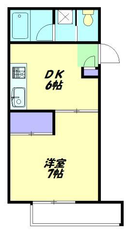 パルス新横浜・201号室の間取り