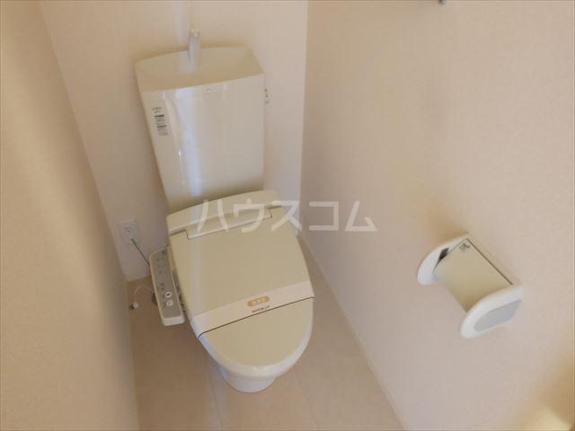 フルール・ド・ティアラE 206号室のトイレ