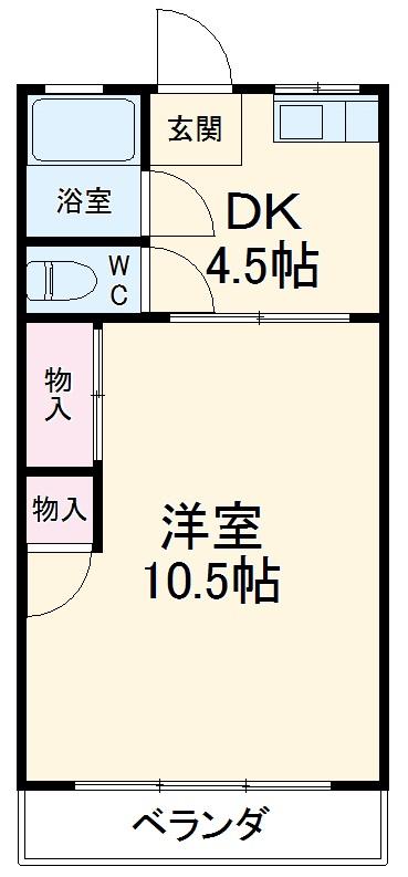 杉田マンション 00102号室の間取り