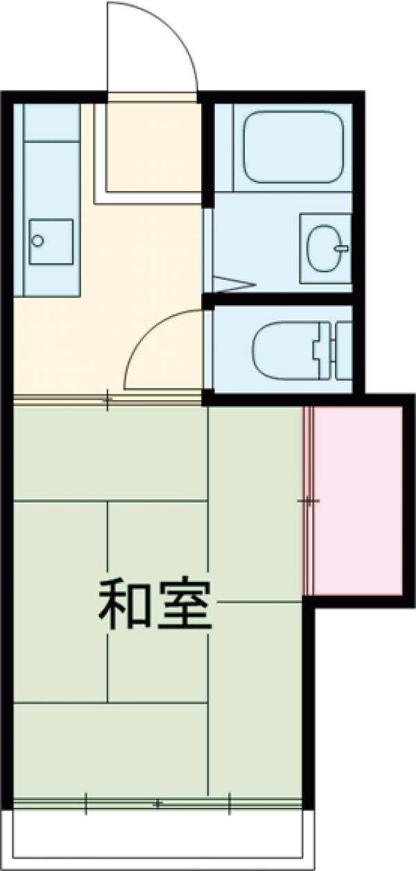 第二松栄荘・103号室の間取り