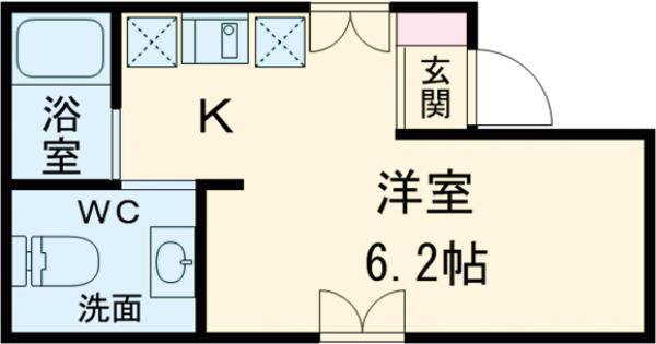 プチフール桜新町・102号室の間取り