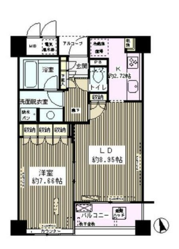 エル・セレーノ西早稲田・305号室の間取り