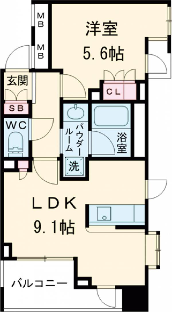 コンフォリア西早稲田・1003号室の間取り
