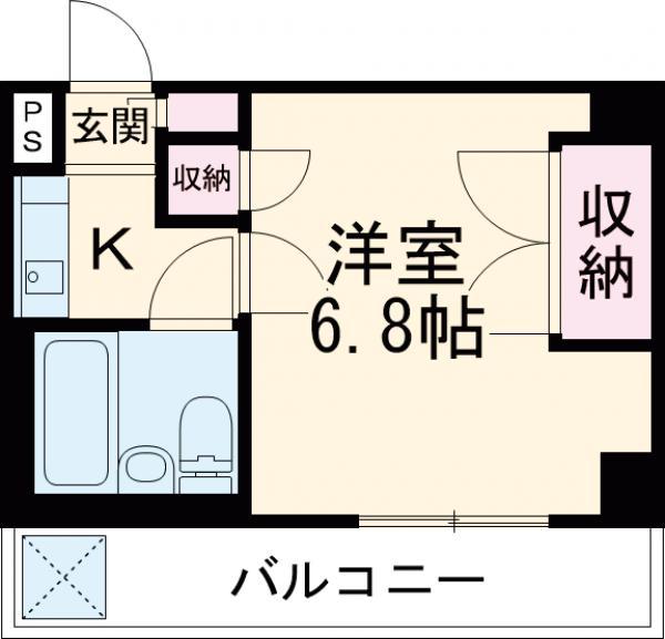 板橋昭和ビル徳丸・302号室の間取り