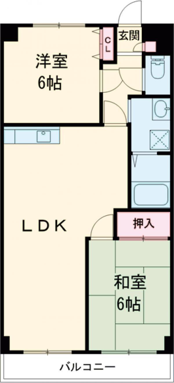 第3桜マンション・103号室の間取り