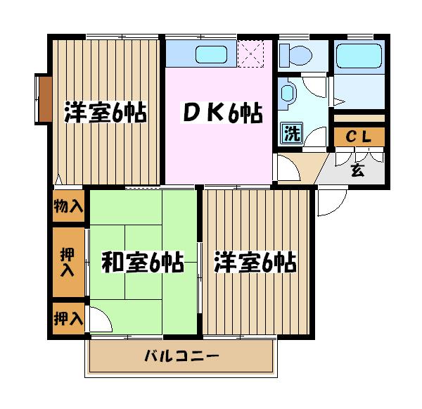 ボナール滝澤A 101号室の間取り