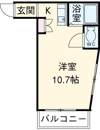 リバティーHIJIKATA・102号室の間取り