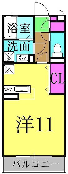 ルフラン・105号室の間取り