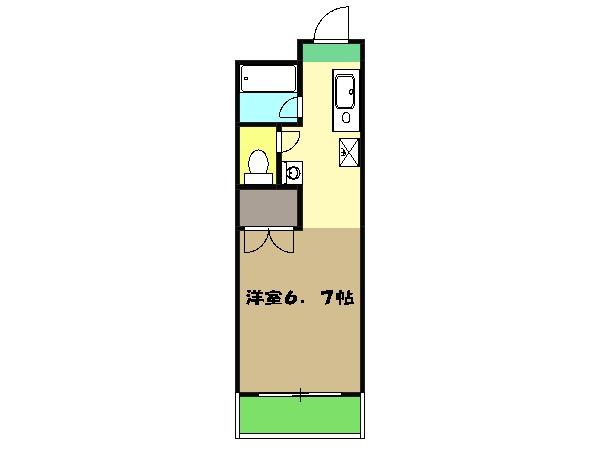 ローリエ八幡山・104号室の間取り