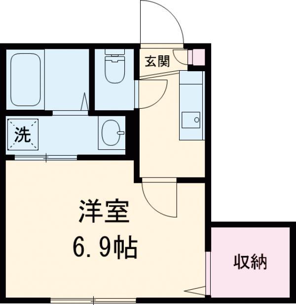 二子玉川アパートメント・203号室の間取り