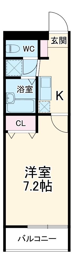 アムールTAKAHARA・102号室の間取り