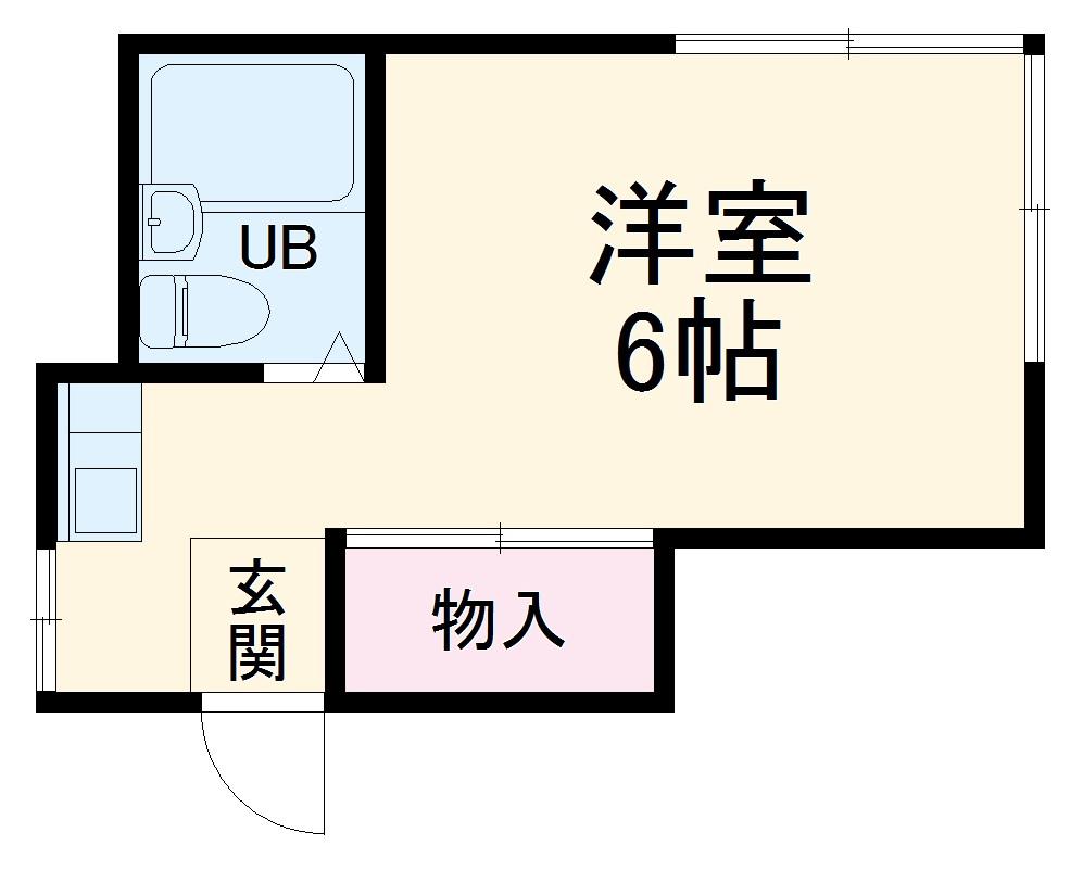 名取アパート・201号室の間取り