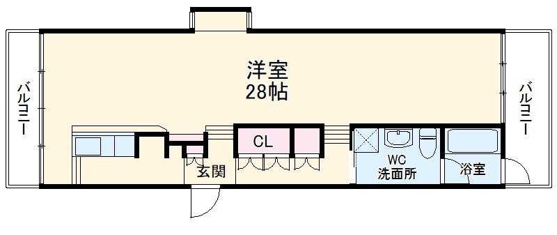 The Apartment LiF・4I号室の間取り