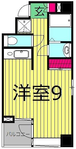 エルニシア亀有SOUTH・701号室の間取り