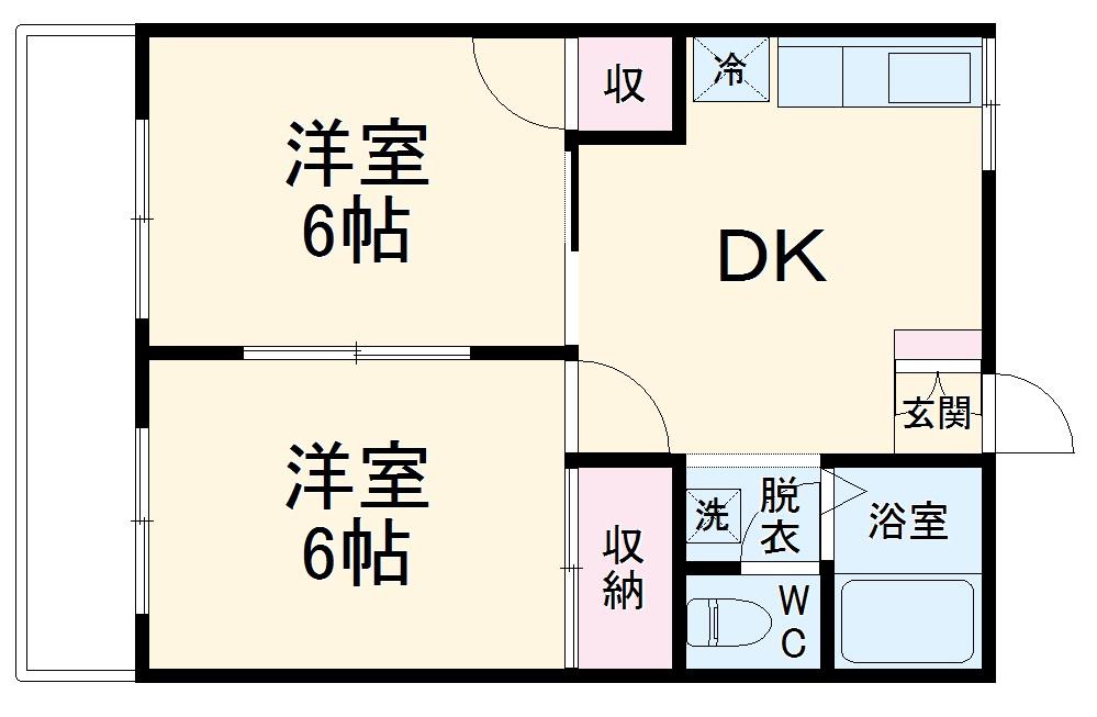 第1フォーブル富士見・102号室の間取り
