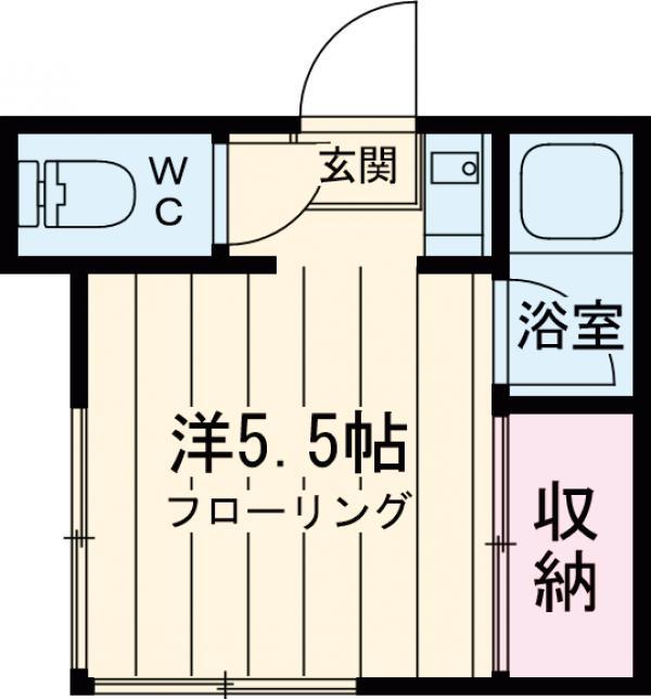 ミユキハイツ・206号室の間取り