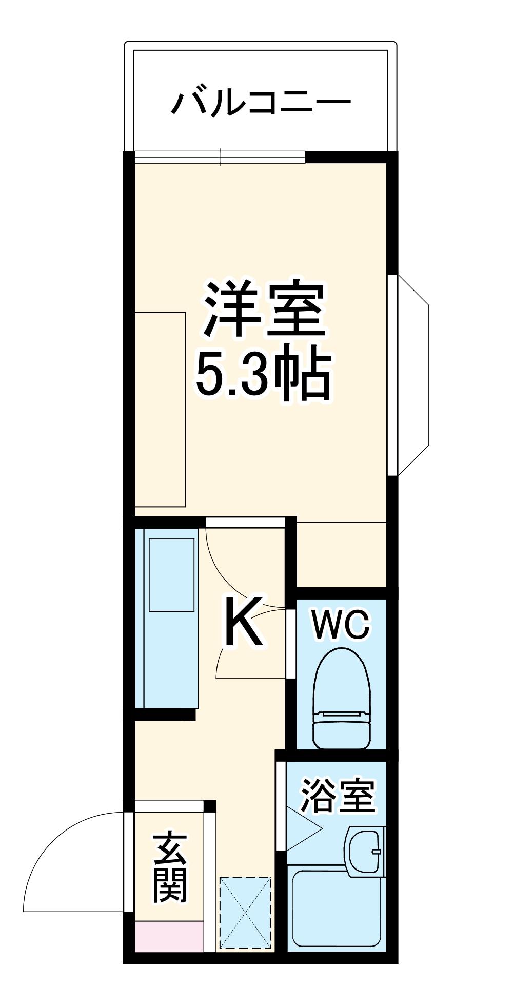 ウイングコート朝霞台・105号室の間取り