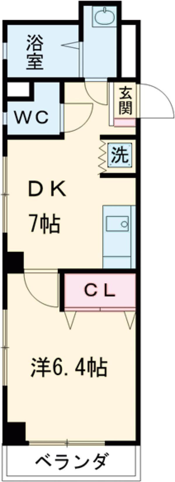 小井川ビル 403号室の間取り
