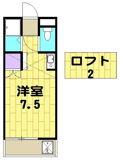 柿の木コーポ・206号室の間取り