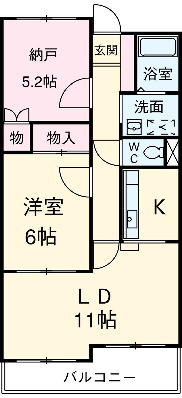 パレス細田アズマ・103号室の間取り