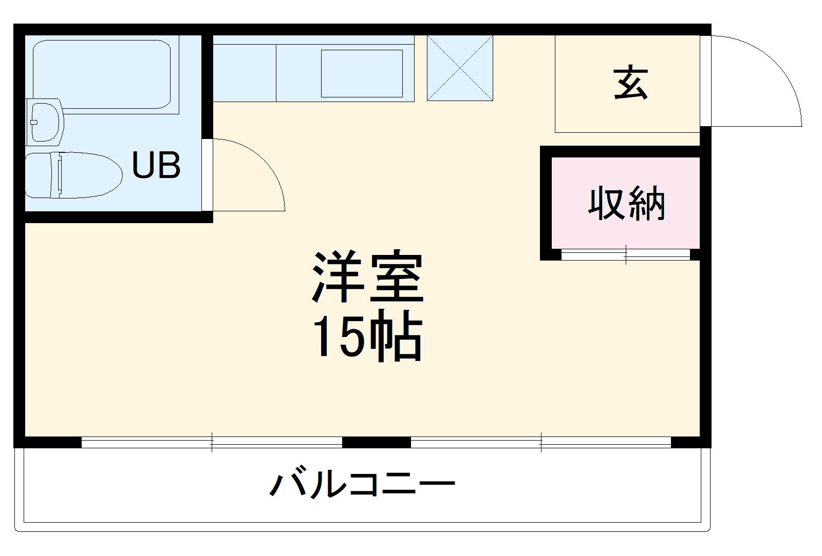山崎第4マンション・4A号室の間取り