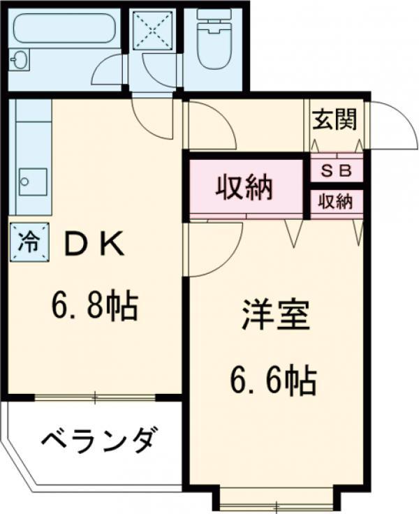 ライオンズマンション桜上水第二・301号室の間取り