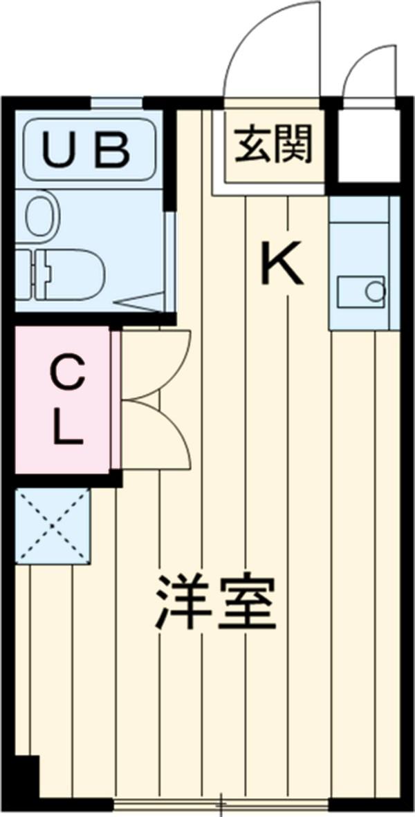 キョーエーマンションミナミ・303号室の間取り