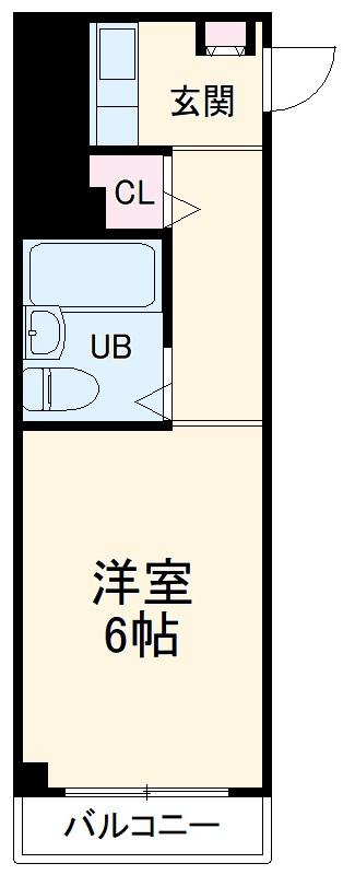 大池5番館 307号室の間取り