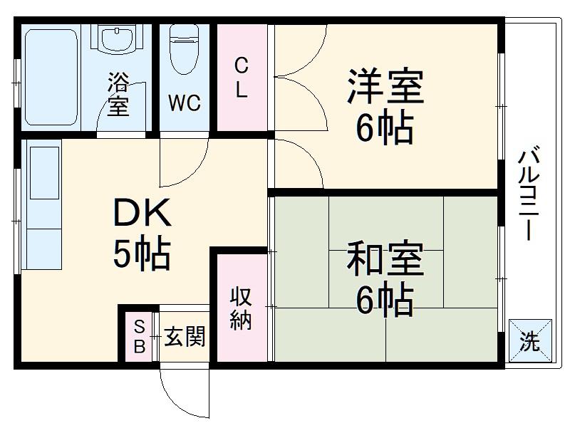 阪井マンション 302号室の間取り