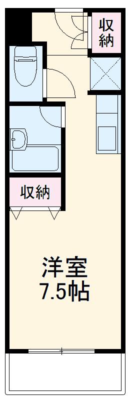 カースル安田・202号室の間取り