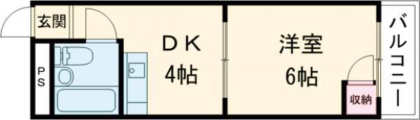 崎山ハイム 202号室の間取り