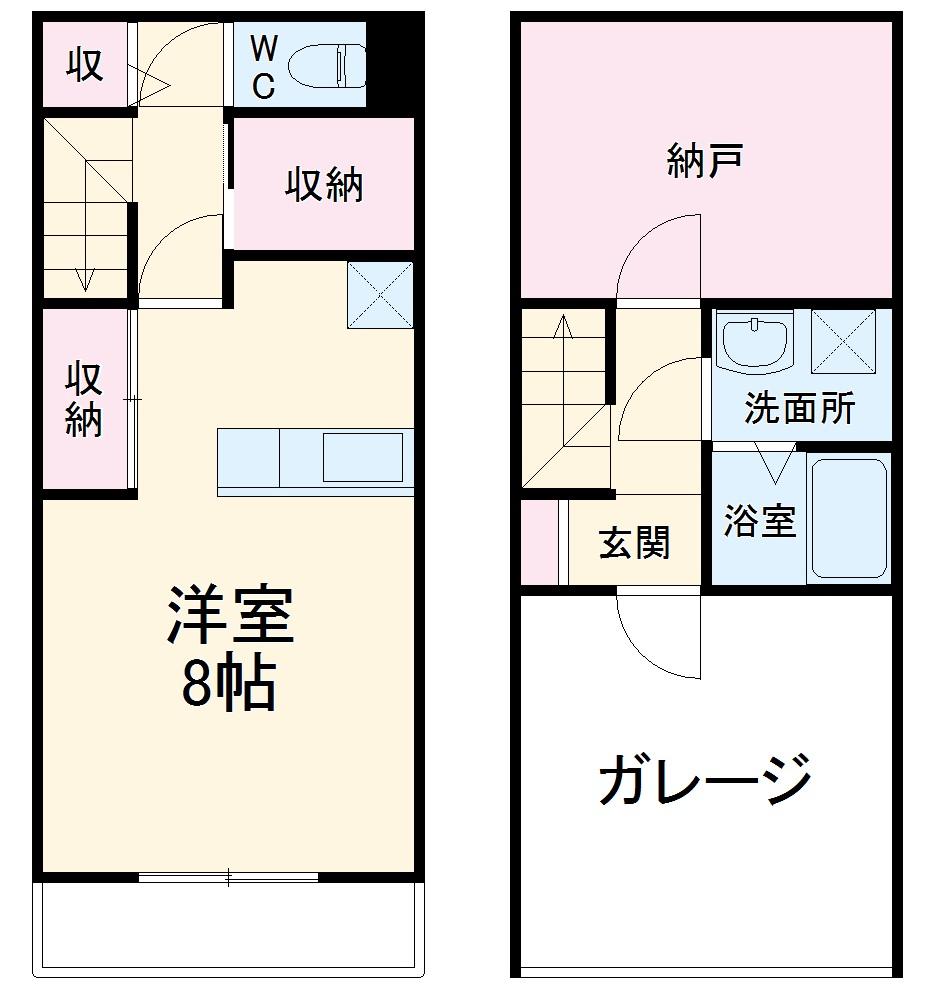 ウッドマンション和光ヴィレッジB棟・101号室の間取り