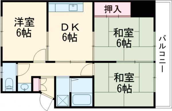 LEGAL MAISON 津之江Ⅱ・202号室の間取り