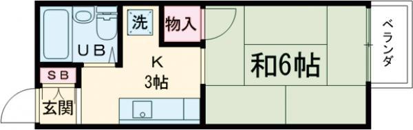 ジュネス阪本 208号室の間取り