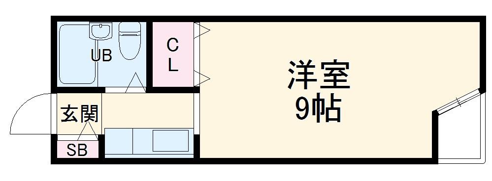 ラトーレ豊中・305号室の間取り