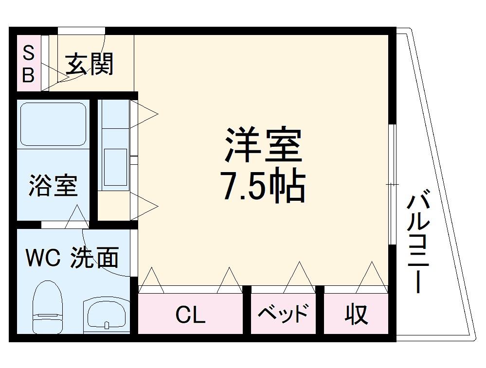 プチミラージュ中桜塚・403号室の間取り