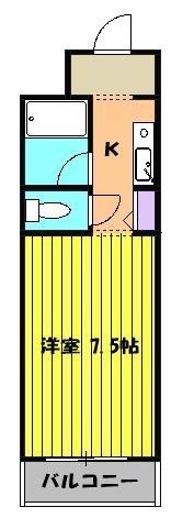 ミルオンデュール竹生 203号室の間取り