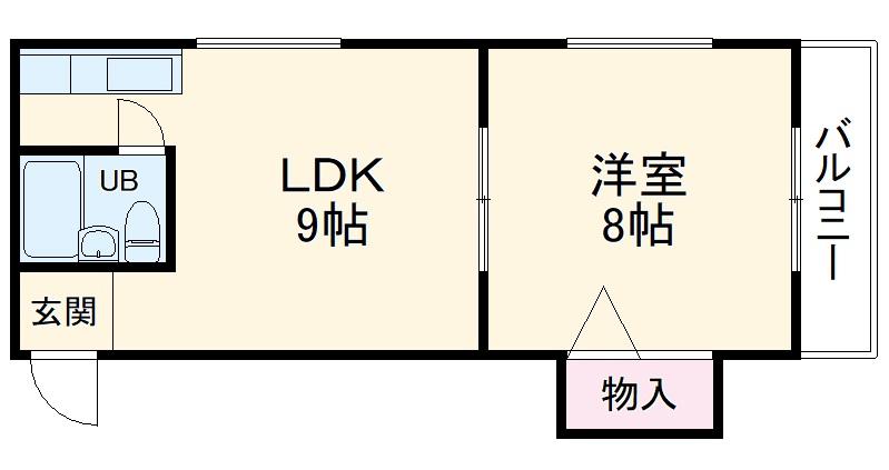 スタジオ桜塚・201号室の間取り