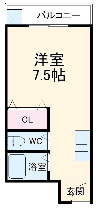 シティズホーム西本町・201号室の間取り