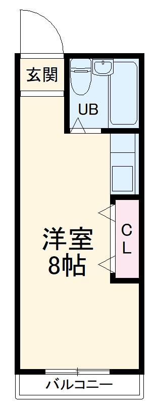 LIVE・208号室の間取り