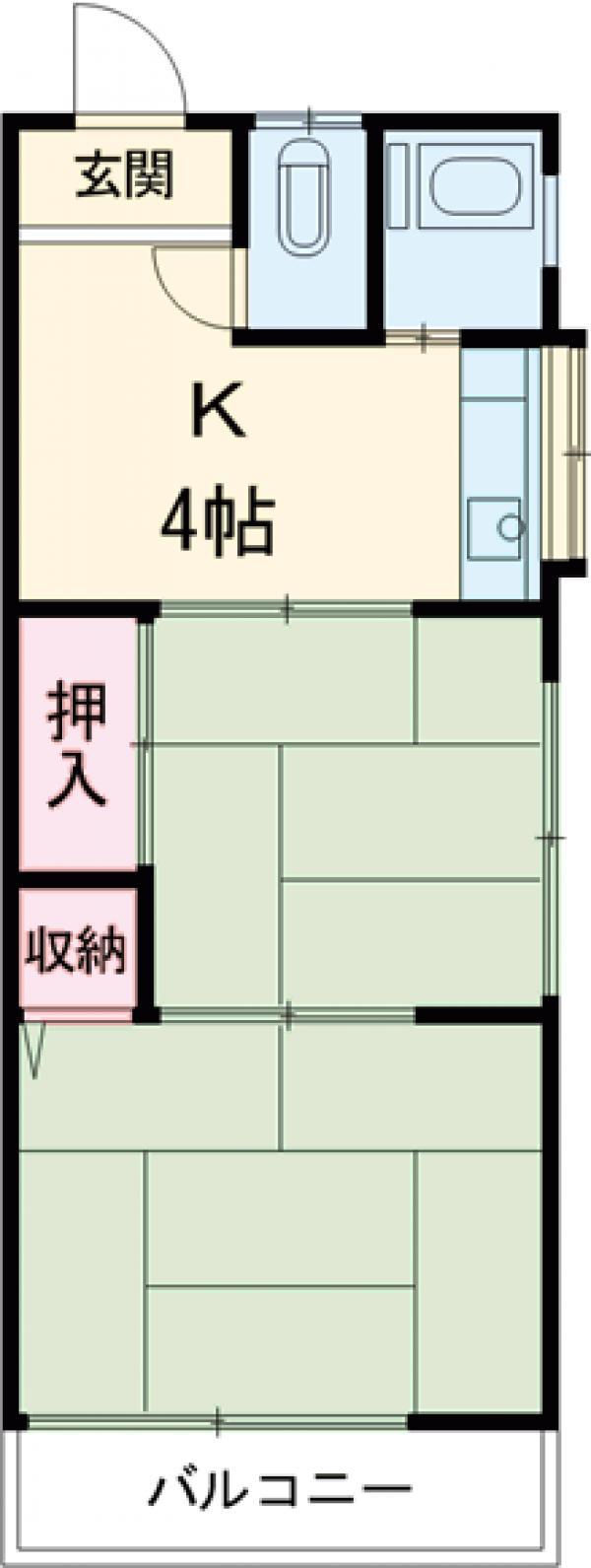 紫山荘 201号室の間取り